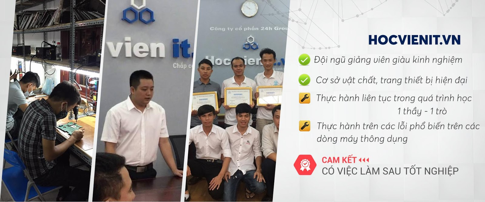 học viên học nghề sửa chữa máy tính