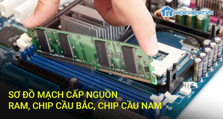 Sơ đồ mạch cấp nguồn RAM, Chip cầu Bắc, Chip cầu Nam