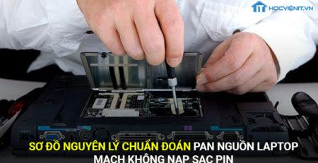 Sơ đồ nguyên lý chuẩn đoán Pan nguông laptop-mạch không nạp sạc pin