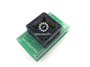 Universal PLCC44 to DIP44 programming adapter