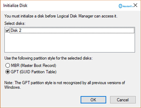 Initialize Disk