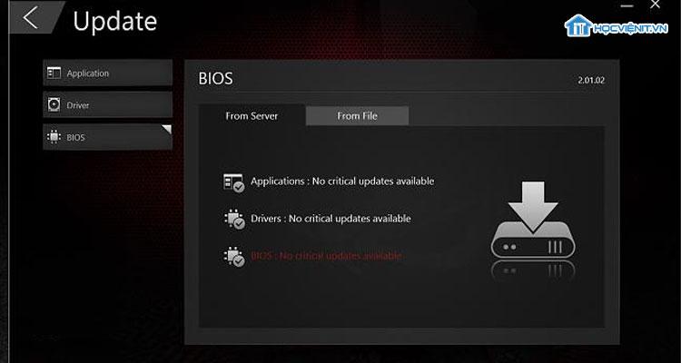 Cách update BIOS