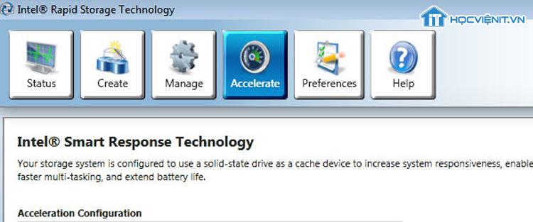 Công nghệ Intel Smart Response
