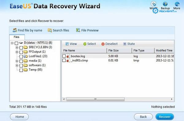 Khôi phục dữ liệu bị mất