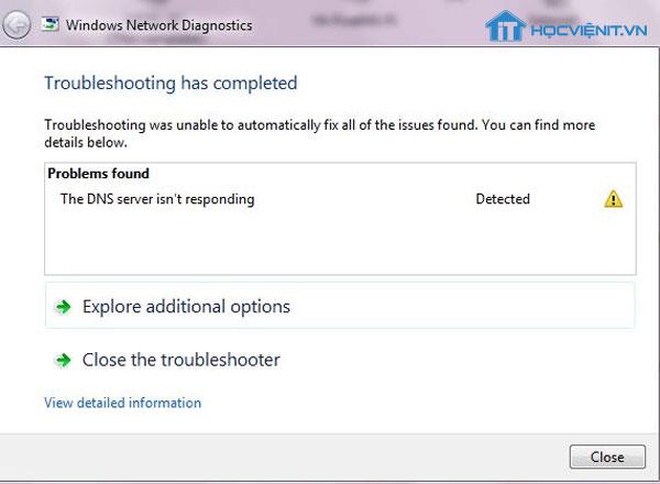 Lỗi DNS
