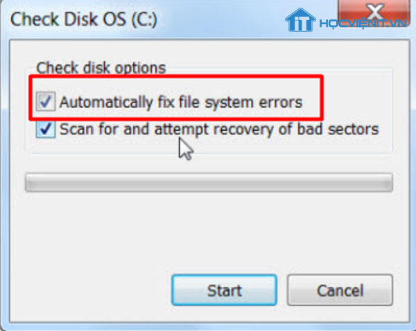 Automatically fix file system errors