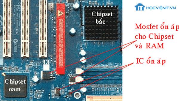 Đèn Mosfet ổn áp nguồn cho Chipset
