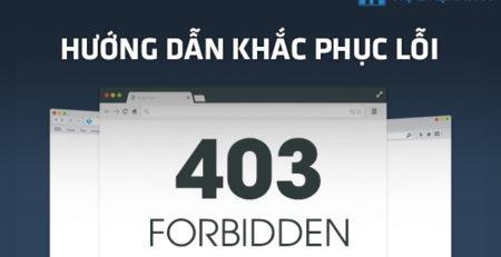 Hướng dẫn khắc phục lỗi 403 Forbidden