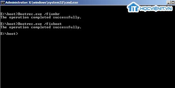 Ghi boot sector phân vùng mới vào phân vùng hệ thống Windows