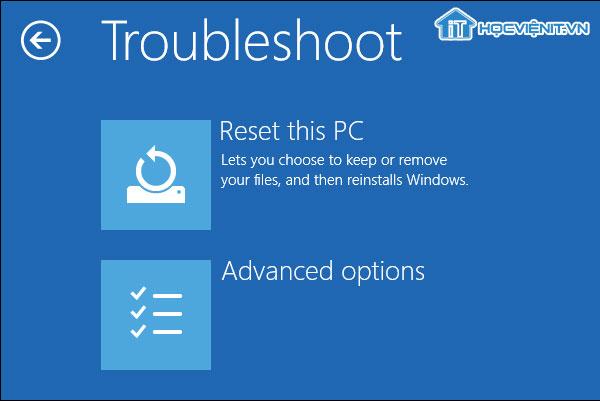 Reset this PC