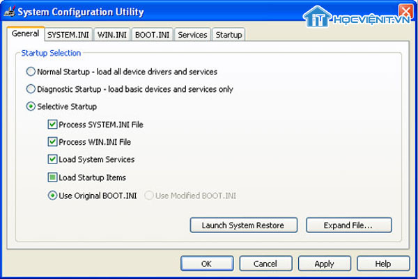 System Configuration Utility