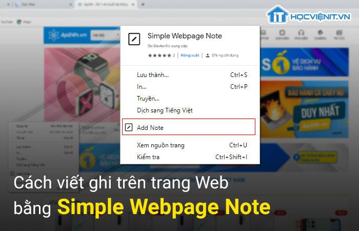Bạn đã biết cách viết ghi chú trên trang Web chưa?