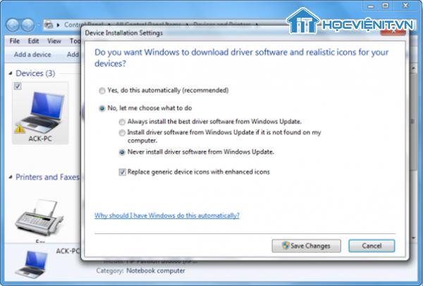 Sử dụng Windows Update
