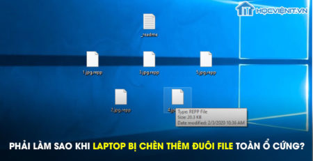 Phải làm sao khi laptop bị chèn thêm đuôi file toàn ổ cứng?