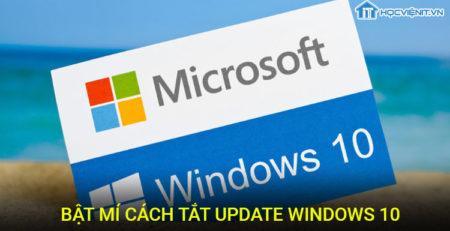 Bật mí cách tắt Update Windows 10