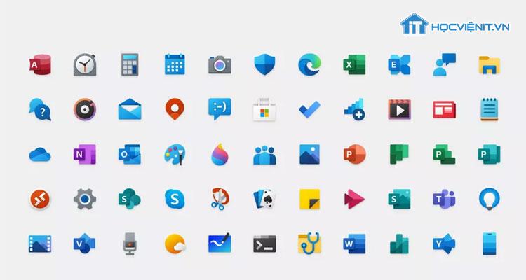 Các biểu tượng mới của Windows 10