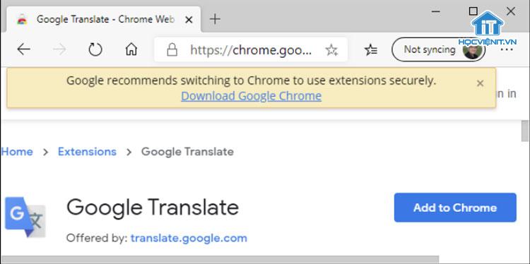 Khuyến cáo của Google