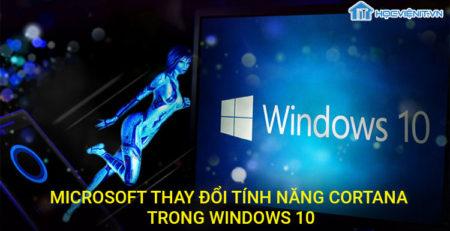 Microsoft thay đổi tính năng Cortana trong Windows 10