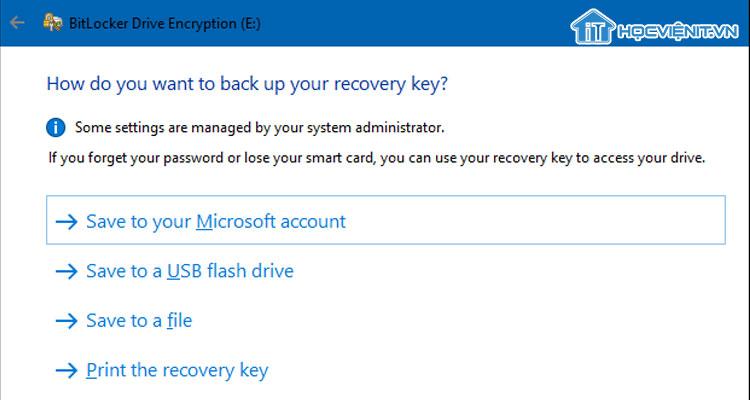 BitLocker tải khóa lên Microsoft
