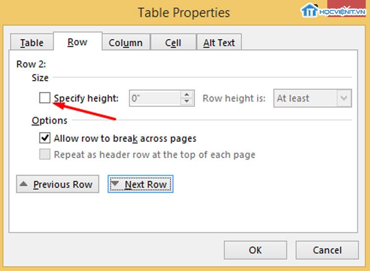 Chỉnh sửa lỗi word bị khoảng trống table