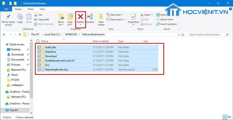 Đặt lại thư mục phân phối phần mềm