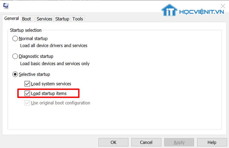 Vô hiệu hóa các phần mềm khởi động cùng Windows