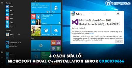 4 cách sửa lỗi Microsoft Visual C++ installation error 0x80070666