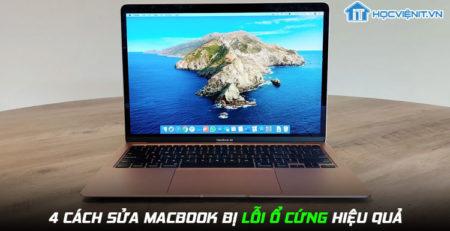 4 cách sửa MacBook bị lỗi ổ cứng hiệu quả