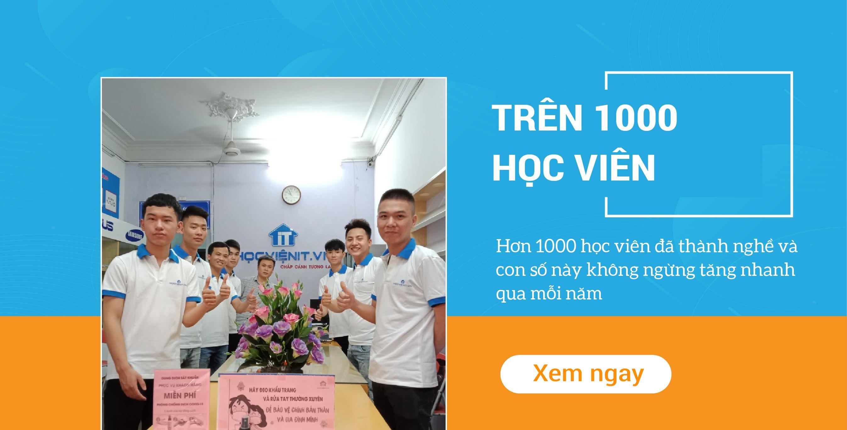 TRÊN 1000 HỌC VIÊN