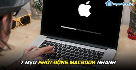 7 mẹo khởi động MacBook nhanh