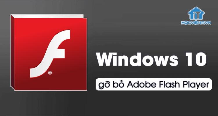Cập nhật Windows mới gỡ bỏ Adobe Flash Player