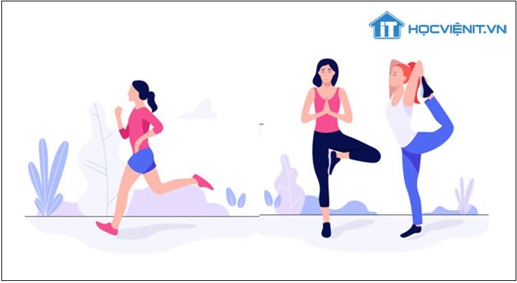 Tập thể dục sẽ giúp bạn tỉnh táo và thư thái