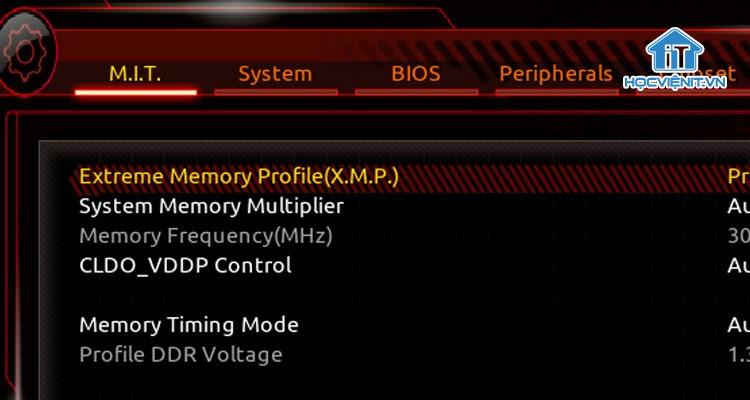 Kích hoạt XMP hoặc DOCP trên BIOS