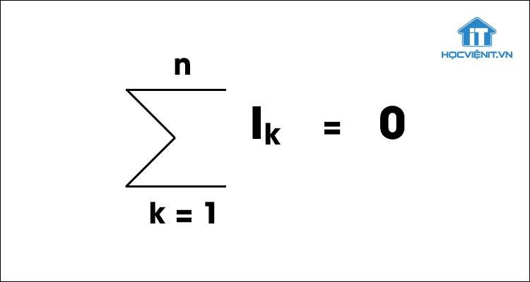 Định luật Kirchhoff về cường độ dòng điện