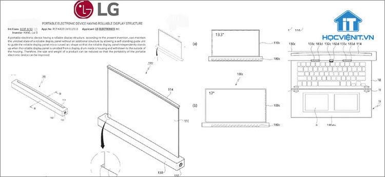 Mô tả sáng chế màn hình cuộn của LG