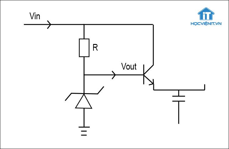 Mạch ổn áp dùng transistor và diode zener