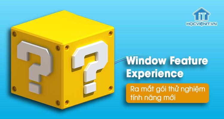 Windows Feature Experience Pack chứa hàng loạt tính năng mới