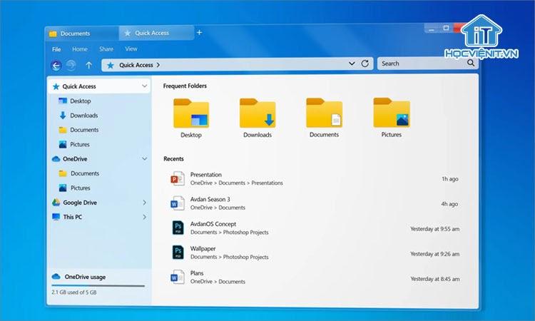 Giao diện thiết kế của Windows 7 - 2020 Edition từ Skinpacks