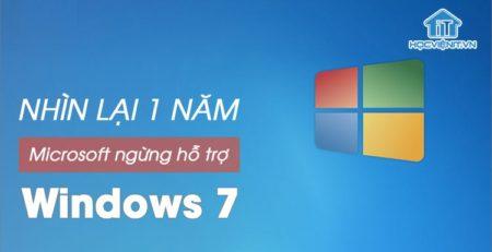 Microsoft ngừng hỗ trợ Windows 7 và lượng người dùng còn lại sau 1 năm