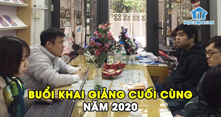 Buổi khai giảng cuối cùng của năm 2020