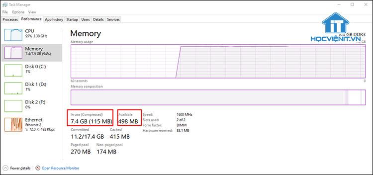 Kiểm tra tình trạng của RAM PC