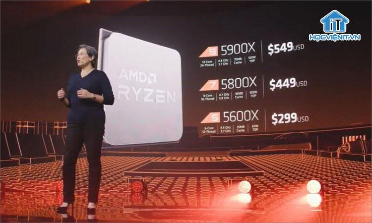 Thông số các mẫu Ryzen 5000 cao cấp trong ngày ra mắt