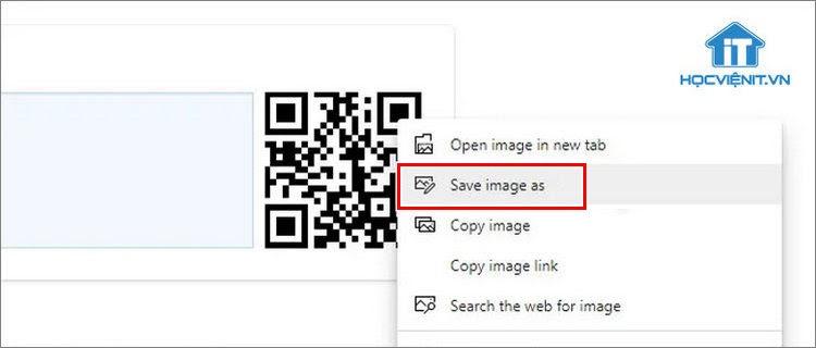 Lưu mã QR về máy tính để chia sẻ