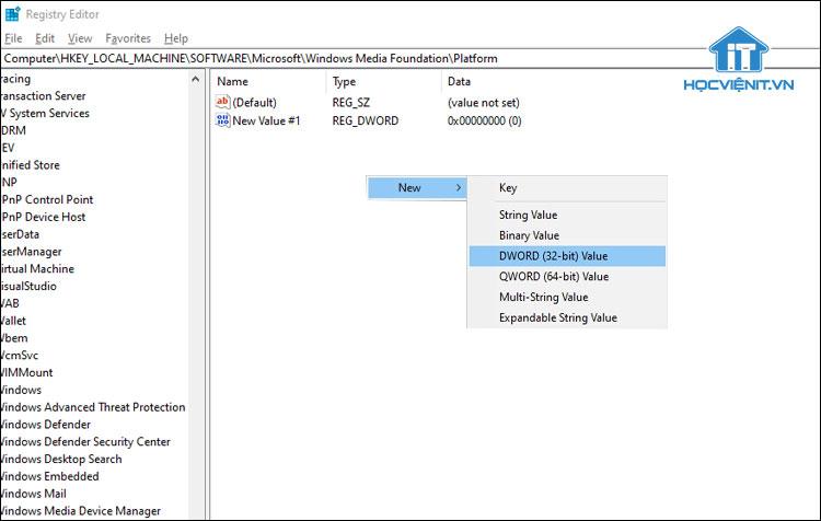 Sử dụng tính năng Registry Editor