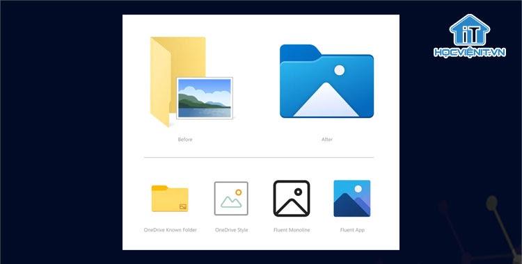 Một số biểu tượng Windows 10 cũ và mới