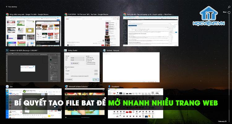 Bí quyết tạo file Bat để mở nhanh nhiều trang web