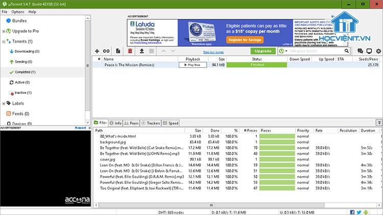 uTorrent chiếm dụng tài nguyên thiết bị người dùng
