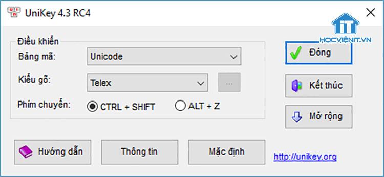 Thiết lập sai bảng mã và kiểu gõ trong Unikey