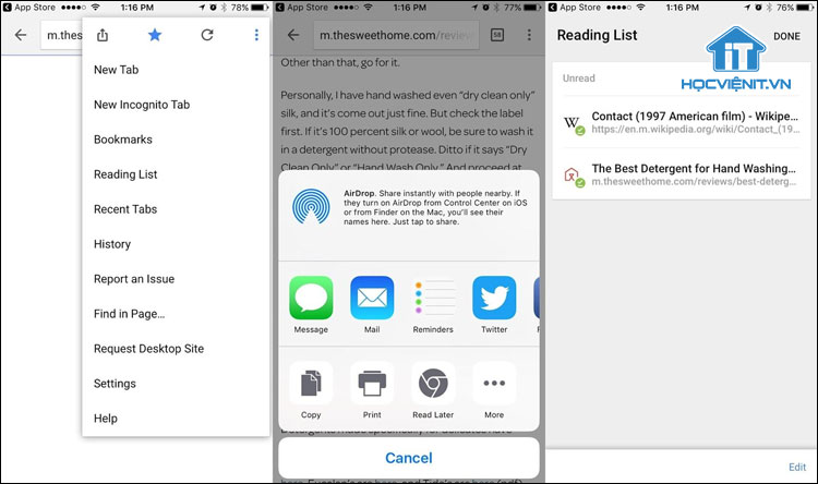 Thêm trang web trên Chrome dành cho iPhone và iPad