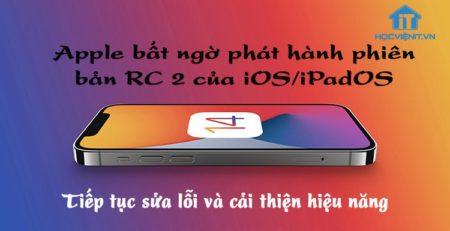Phiên bản RC 2 của iOS/iPadOS
